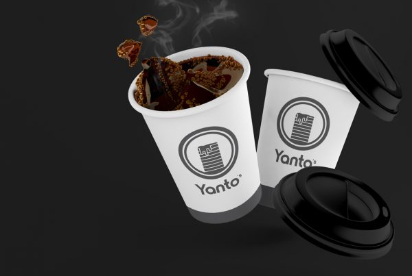 Yanto's logo on a cup
